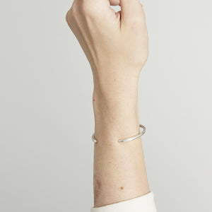 Simple Circle Silver Cuff by Joy Everley