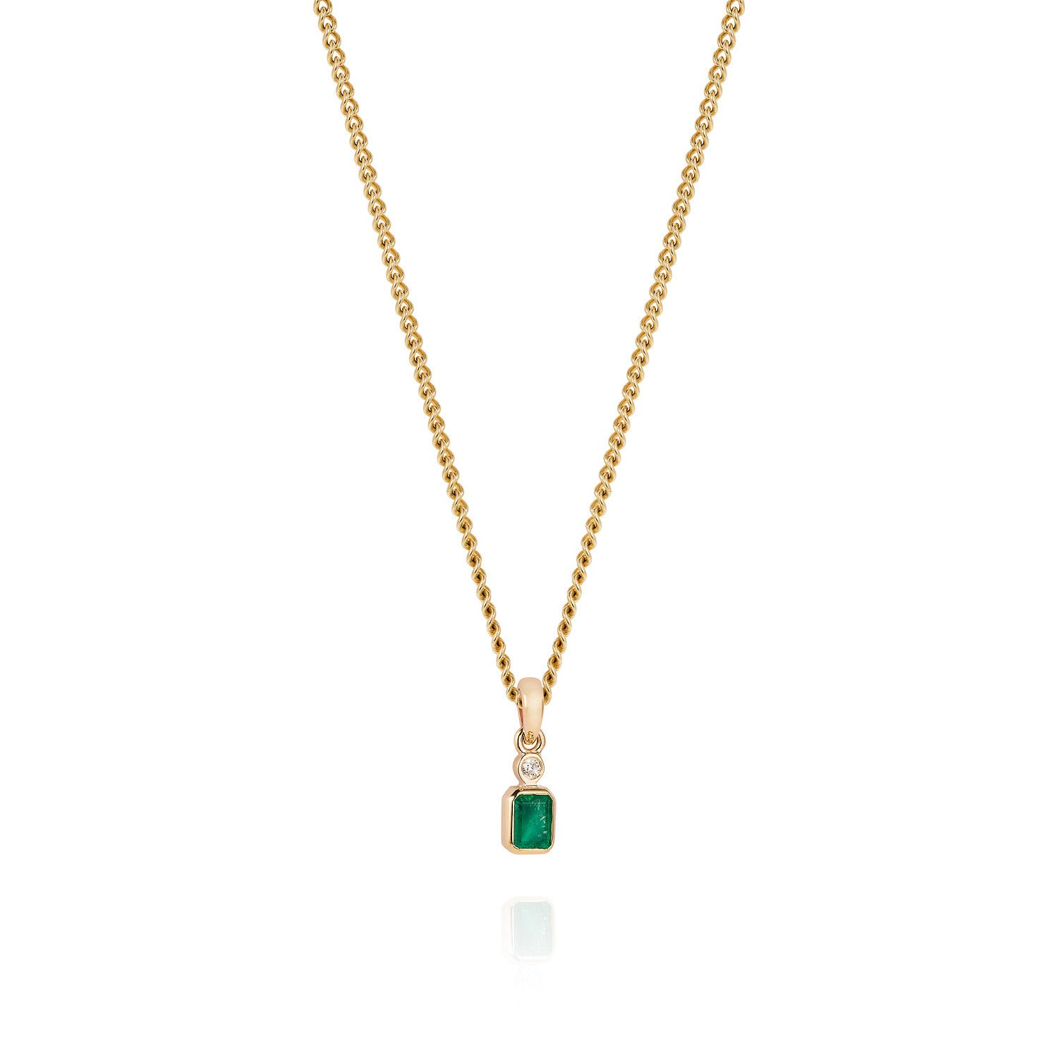 Emerald and diamond pendant necklace joy everley fine jewellers emerald and diamond pendant necklace joy everley fine jewellers london aloadofball Gallery