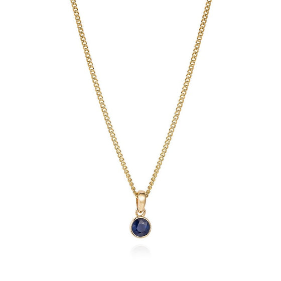 Simple Sapphire Necklace