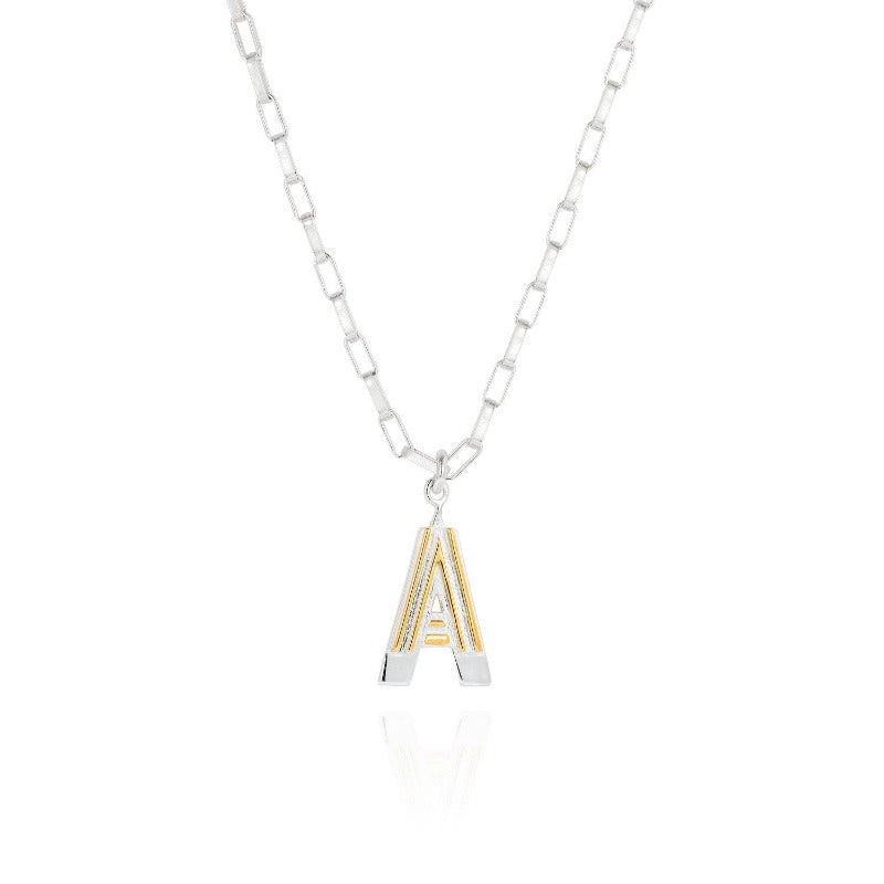 Saxony A Initial Necklace - Joy Everley Fine Jewellers, London