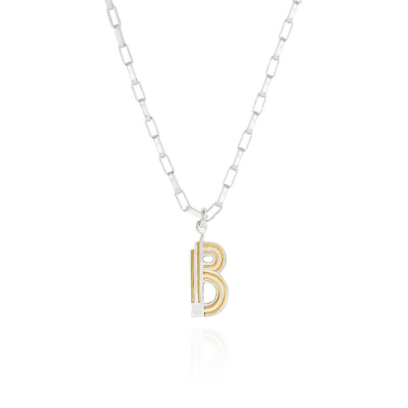 Saxony B Initial Necklace - Joy Everley Fine Jewellers, London