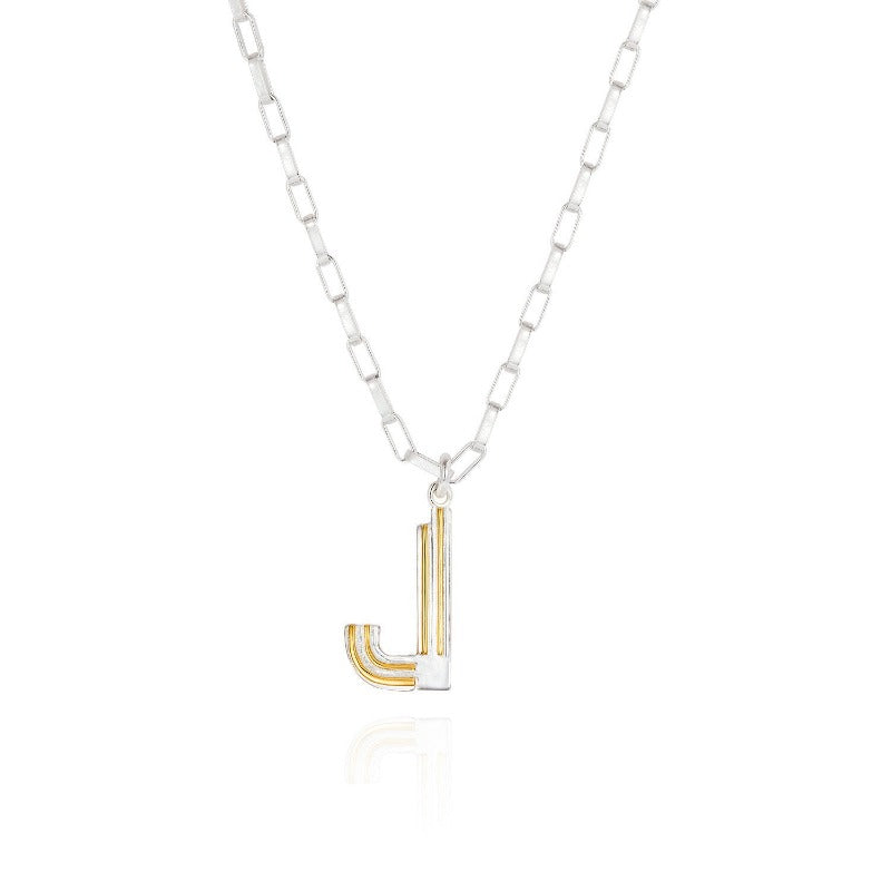 Saxony J Initial Necklace - Joy Everley Fine Jewellers, London