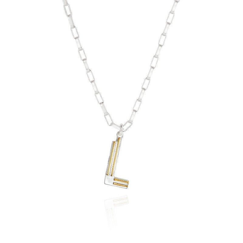 Saxony L Initial Necklace - Joy Everley Fine Jewellers, London