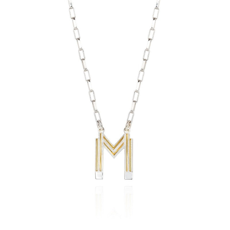 Saxony M Initial Necklace - Joy Everley Fine Jewellers, London