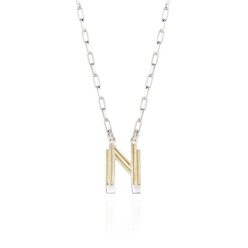 Saxony N Initial Necklace