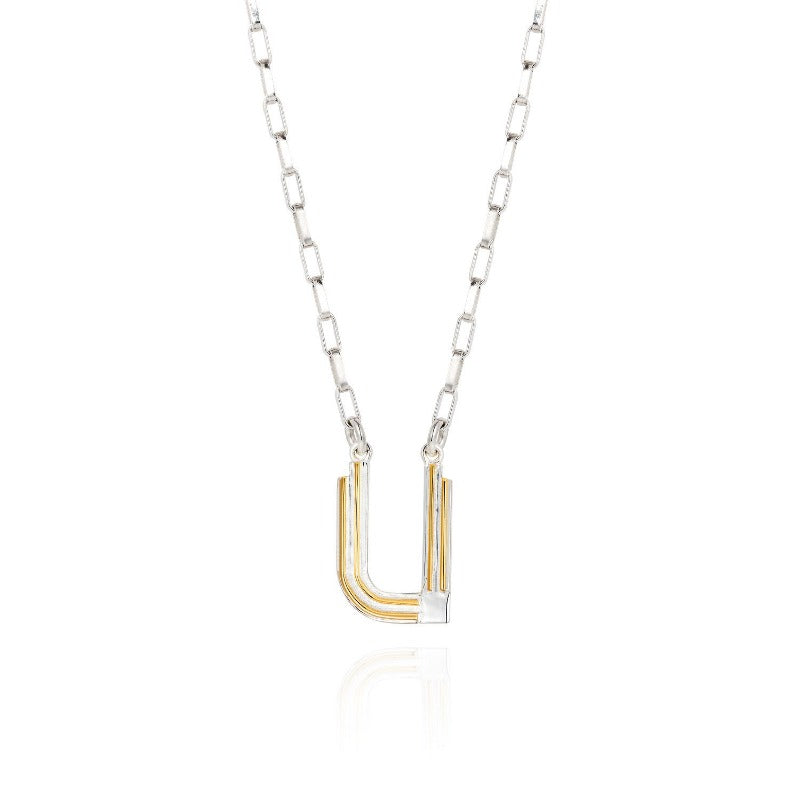 Saxony U Initial Necklace - Joy Everley Fine Jewellers, London