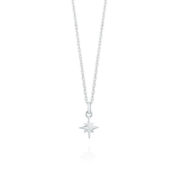 Small Compass Star Necklace