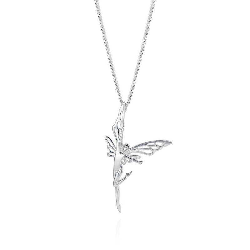 Joy Everley Good Morning Goodnight Silver Fairy Necklace