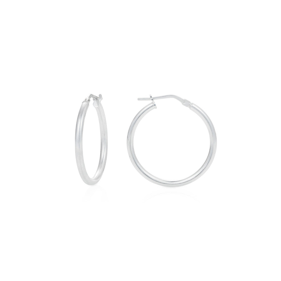 Small Silver Hoop Earrings - Joy Everley Fine Jewellers, London
