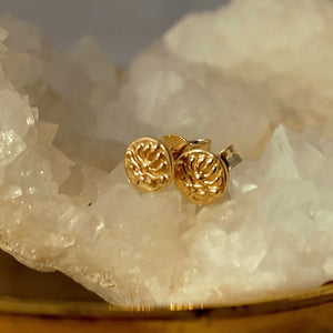 Solid Gold Baroque Tiny Ear Studs by Joy Everley