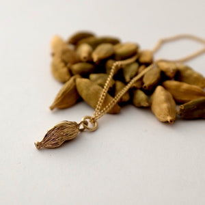 Solid Gold Cardamom Necklace by Joy Everley