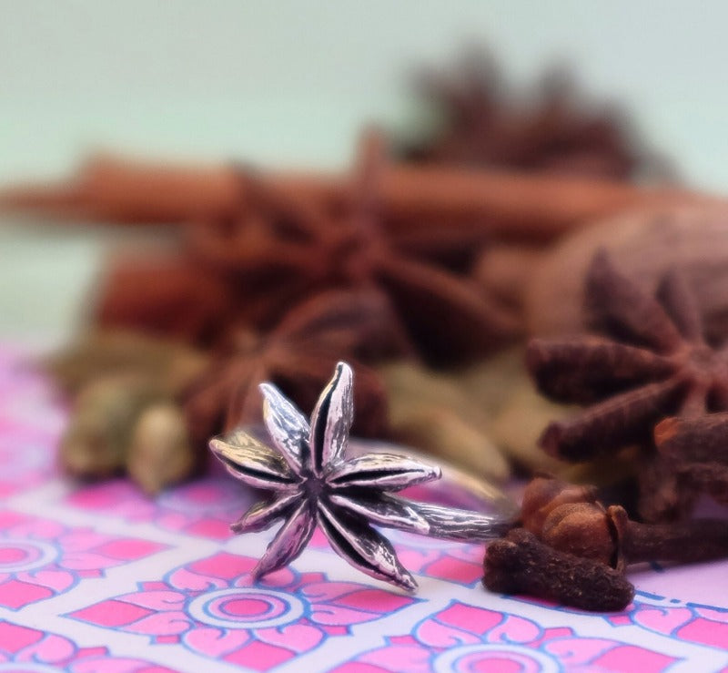 Star Anise Silver Ring by Joy Everley