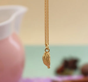 Vermeil Cardamom Pod Necklace - Joy Everley Fine Jewellers, London