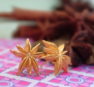 Vermeil Star Anise Ear Studs - Joy Everley Fine Jewellers, London