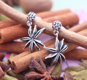 Star Anise & Peppercorn Silver Earrings by Joy Everley