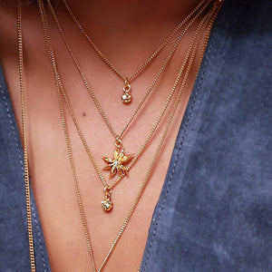 Vermeil Diamond Peppercorn Necklace - Joy Everley Fine Jewellers, London