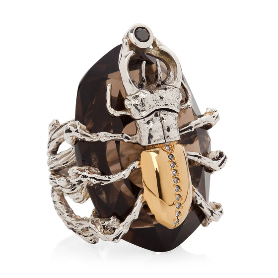 Stag Beetle Cocktail Ring - Joy Everley Fine Jewellers, London