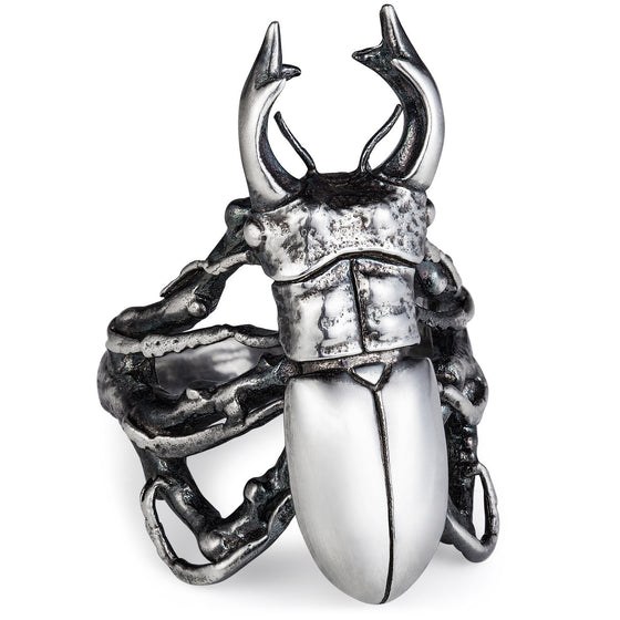 Stag Beetle Ring - Joy Everley Fine Jewellers, London