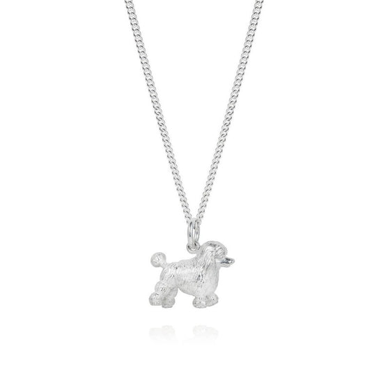 Sterling Silver Poodle Necklace