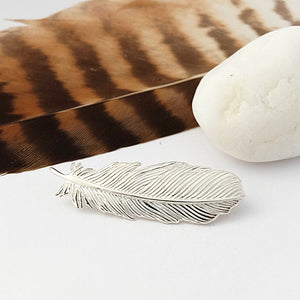 Silver Buzzard Feather Brooch by Joy Everley