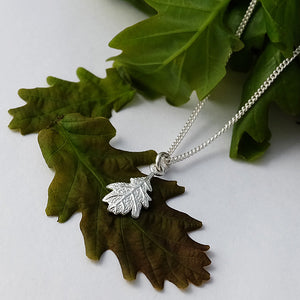 Silver Oak Leaf Necklace by Joy Everley