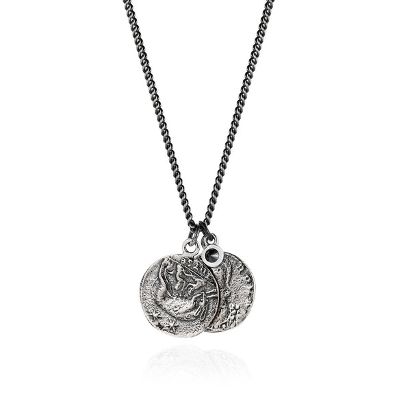 Roman Coin and Black Diamond Necklace