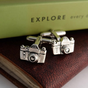 Silver Camera Cufflinks by Joy Everley