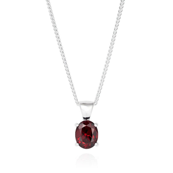 Silver and Garnet Cocktail Necklace