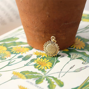 Solid Gold Sunflower Charm by Joy Everley