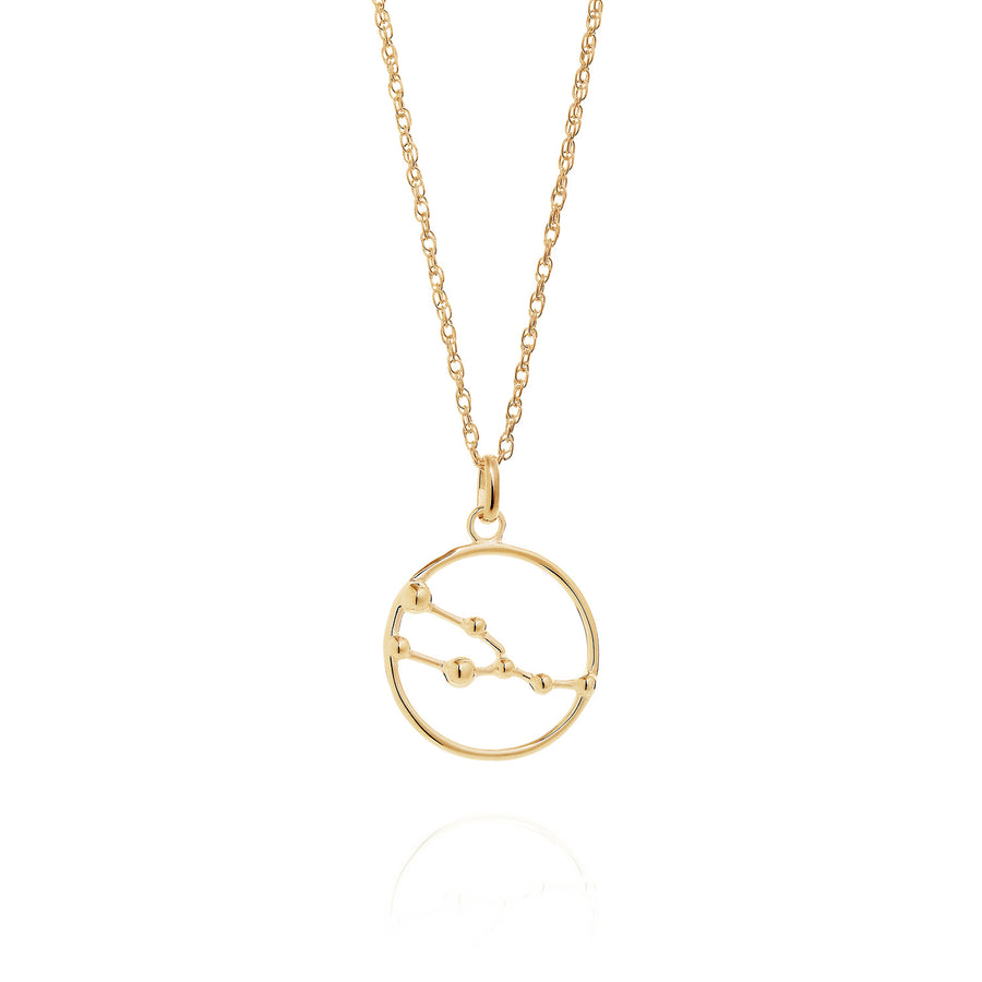 Solid Gold Taurus Astrology Necklace by Yasmin Everley