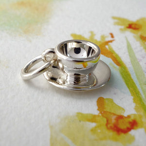Teacup & Saucer Charm - Joy Everley Fine Jewellers, London
