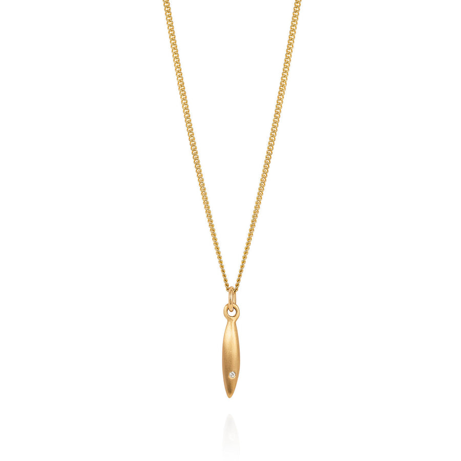 Gold Telstar with Diamond Necklace - Joy Everley Fine Jewellers, London