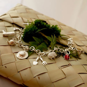 Gardeners' World Silver Charm Bracelet by Joy Everley