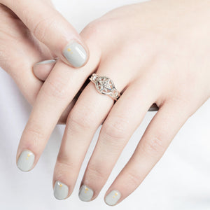 Compass Star Silver Ring by Yasmin Everley