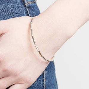Ray Silver Bangle by Yasmin Everley