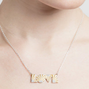 Love Silver Necklace by Yasmin Everley