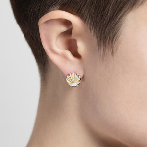 Silver Ray O Ear Studs by Yasmin Everley