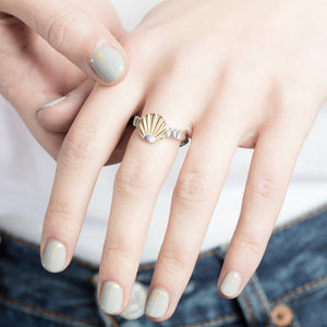 Silver Ray O Ring by Yasmin Everley