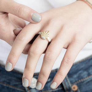 Silver Ray Q Ring by Yasmin Everley