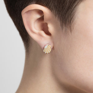 Silver Ray S Ear Studs by Yasmin Everley