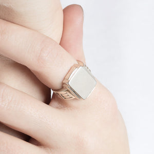 Saxony Silver Signet Ring by Yasmin Everley