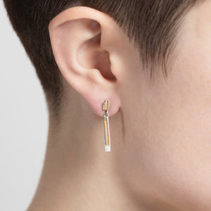 Silver Saxony I Drop Studs by Yasmin Everley