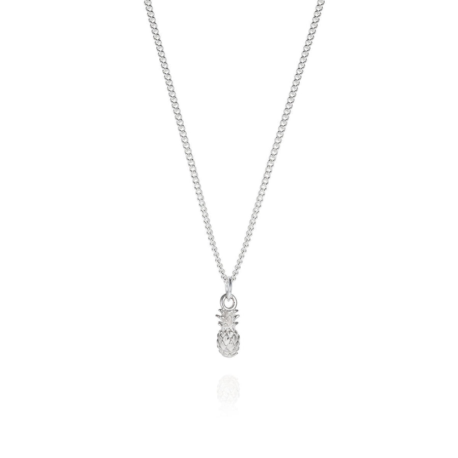 Tiny Silver Pineapple Necklace - Joy Everley Fine Jewellers, London