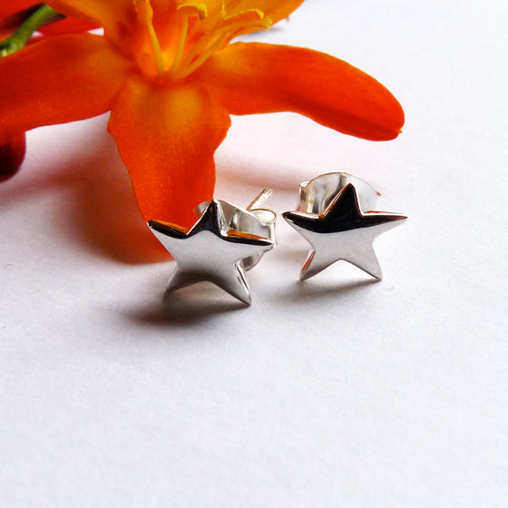 Tiny Star Ear Studs - Joy Everley Fine Jewellers, London