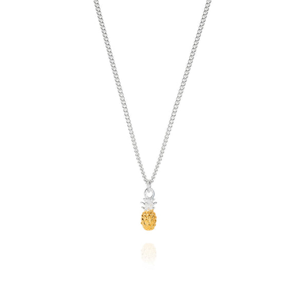 Tiny Vermeil Pineapple Necklace