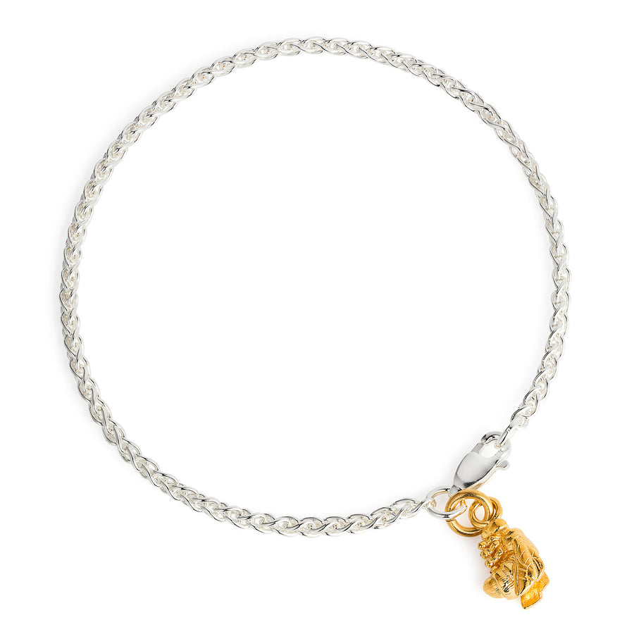 Golden Bee & Silver Spiga Bracelet by Joy Everley