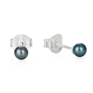 Tiny Pearl Silver Ear Studs by Joy Everley