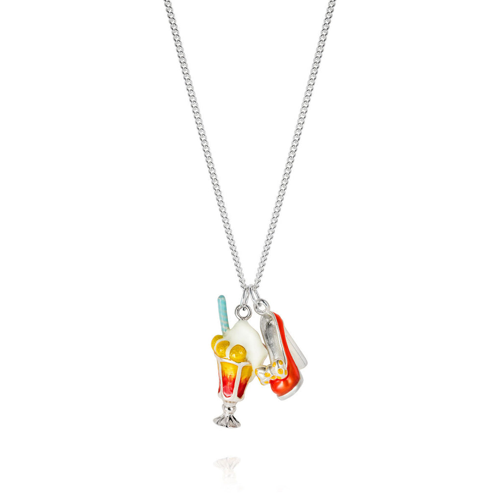Enamel Tropical Suburbia Charm Necklace