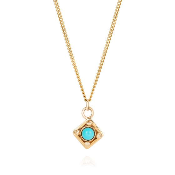 Gold Georgian and Turquoise Necklace
