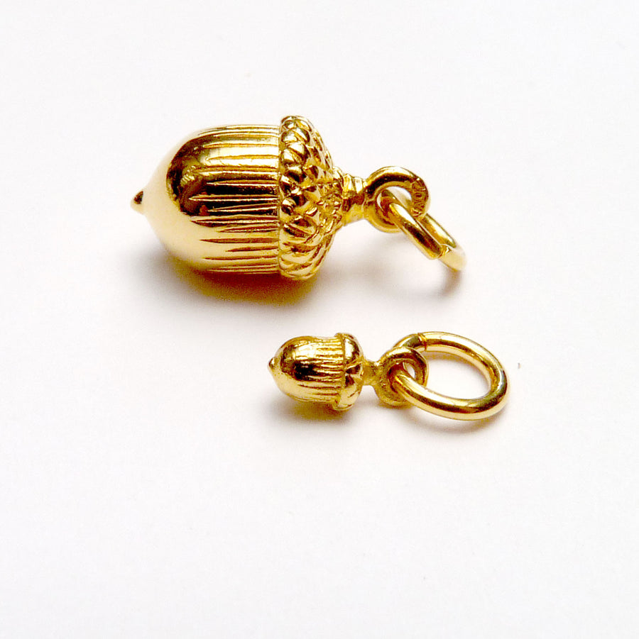 Vermeil Acorn Charm - Joy Everley Fine Jewellers, London